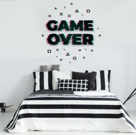 Vinile decorativo e adesivi game over