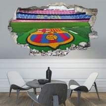 Vinili 3d stadio di calcio camp nou