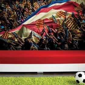 Murales stadio di calcio camp nou barça