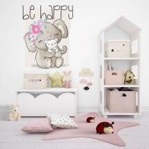 Vinile e adesivi per bambini animali be happy