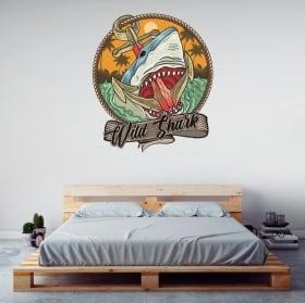 Vinile e adesivi squalo selvaggio