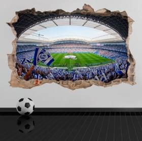 Vinile e adesivi 3d real society football stadium reale arena