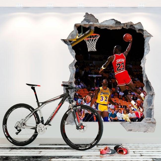 Vinili 3d basket michael jordan