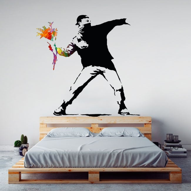 Vinili decorativi graffiti di banksy