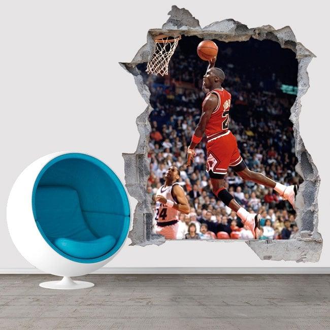 Vinile e adesivi 3d basket michael jordan
