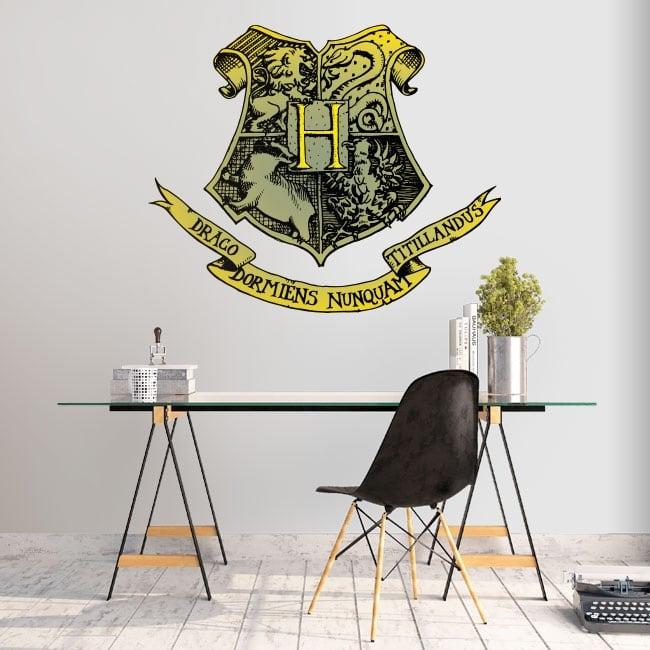 Vinili harry potter scudo della scuola di hogwarts