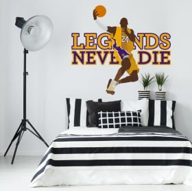 Adesivi in ​​vinile kobe ​​bryant los angeles lakers pallacanestro
