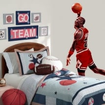Vinile decorativo michael jordan basketball