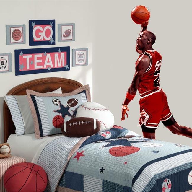Vinile decorativo michael jordan basketball
