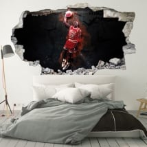 Vinili decorativi 3d michael jordan nba