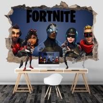 Adesivi murali 3d videogioco fortnite