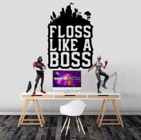 Vinili adesivi fortnite floss like a boss
