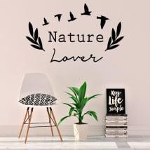Vinile e adesivi frase inglese amante della natura