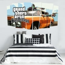 Vinili video gioco grand theft auto san andreas
