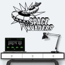 Vinili e adesivi videogiochi retrò space invaders