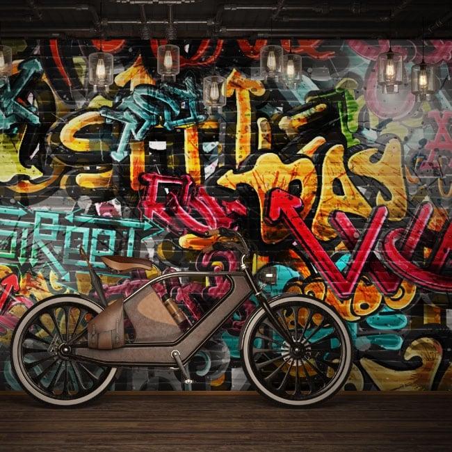 Fotomurali in vinile graffiti urbani