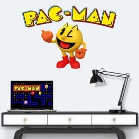 Vinile e adesivi retrò videogioco pac-man