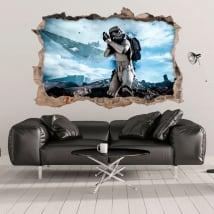 Vinile e adesivi 3d stormtrooper star wars