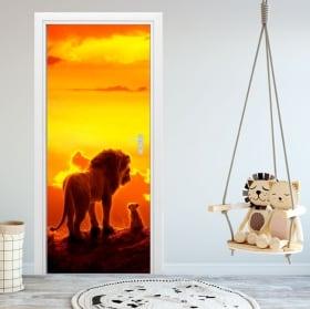 Vinile per porte e armadi disney il re leone