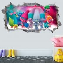 Vinili decorativi e adesivi 3d trolls