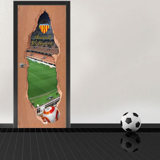 Vinile 3d porte mestalla stadium valencia football club