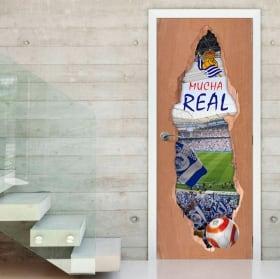 Adesivi per porte 3d società reale stadio di calcio reale arena
