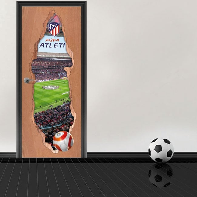 Adesivi per porte 3d stadio wanda metropolitano atlético de madrid