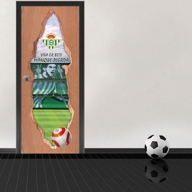 Adesivi per porte 3d stadio di calcio benito villamarín real betis balompié