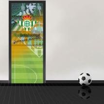 Decalcomanie per porte di stadio di calcio benito villamarín real betis balompié