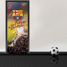 Vinile per porte stadio camp nou barcelona