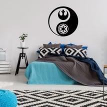 Vinili e adesivi yin yang star wars