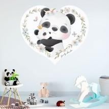 Vinili decorativi e adesivi per bambini orsi panda