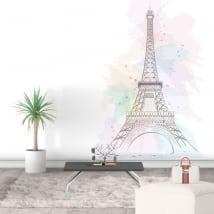 Vinili decorativi e adesivi torre eiffel parigi