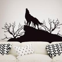 Vinili decorativi e adesivi lupo in natura