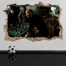 Adesivi in vinile 3d calcio maradona con pelé e zidane