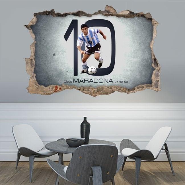 Vinile adesivo 3d calcio maradona