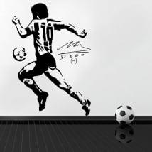 Adesivi in vinile calcio maradona