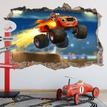 Adesivi blaze and the monster machines 3d