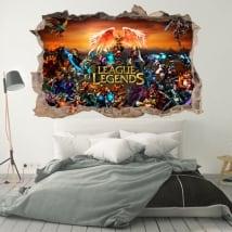 Vinili decorativi league of legends 3d