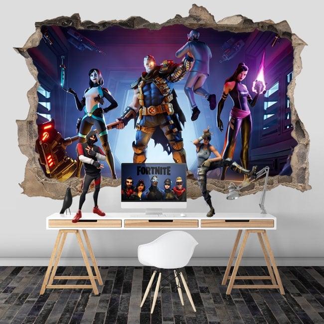 Vinili muro del foro videogioco fortnite x-force 3d