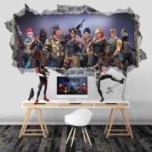 Vinile e adesivi foro videogioco fortnite 3d