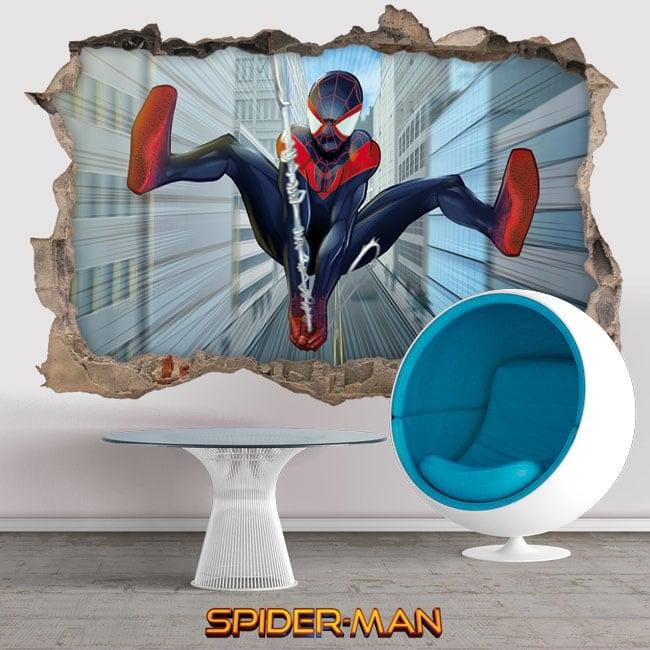 Vinile e adesivi 3d miles morales spider-man