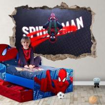 Vinile e adesivi foro 3d miles morales spider-man