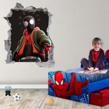 Vinile adesivo miles morales spider-man 3d