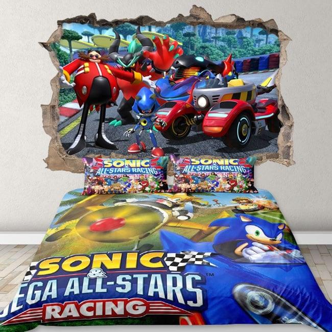 Vinili e adesivi 3d team sonic racing