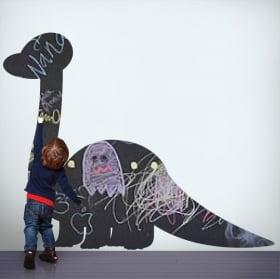 Vinili lavagna nera dinosauro