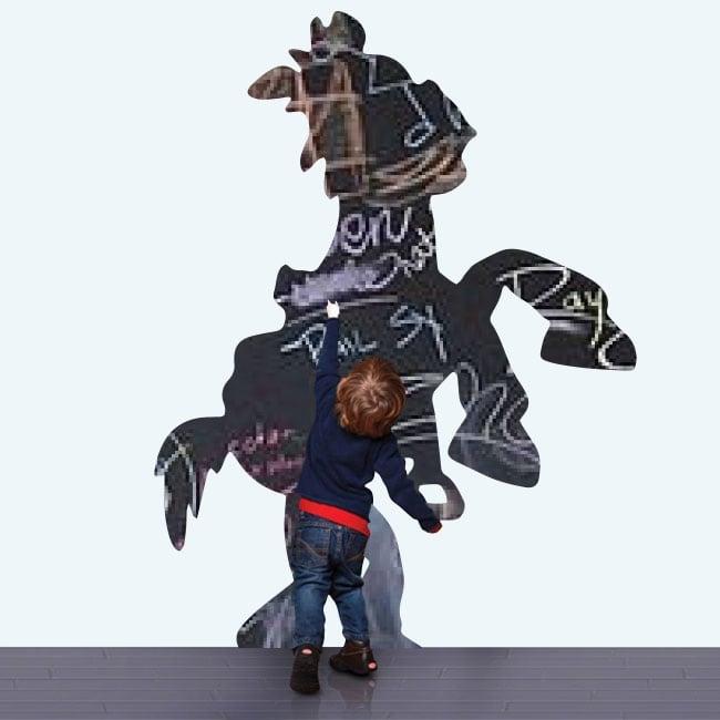 Vinili lavagna nera cavallo toy story
