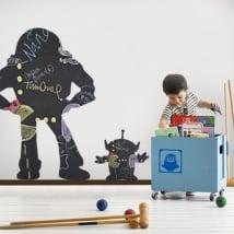 Vinili lavagna nera buzz lightyear e marciano toy story