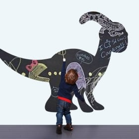 Vinili per bambini lavagna nera dinosauro