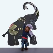Vinili per bambini lavagna nera elefante